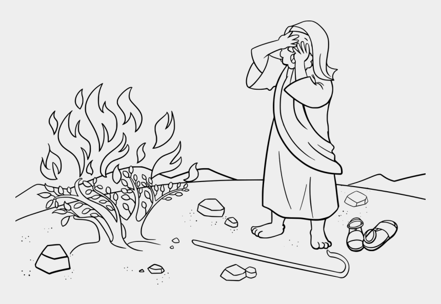 Moses And The Burning Bush Bible Coloring Book Child - Bible ...