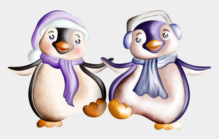 Enchanted Winter Night Penguins And Album Dessin