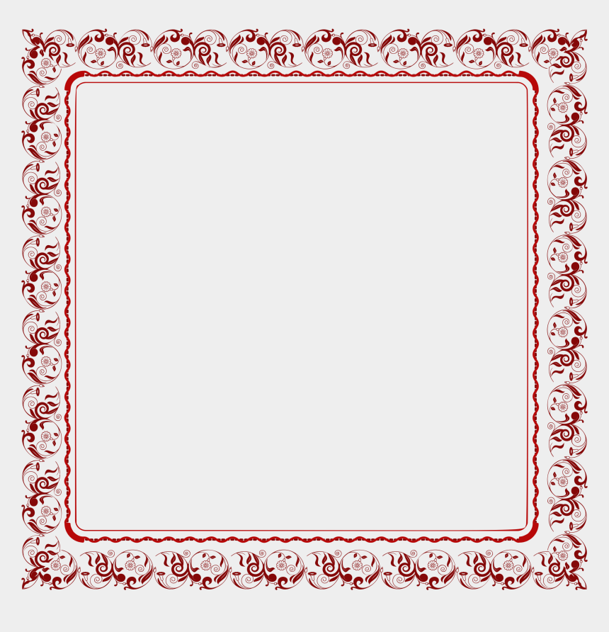 floral frame clipart, Cartoons - Abstract Floral Frame Png - Illustration