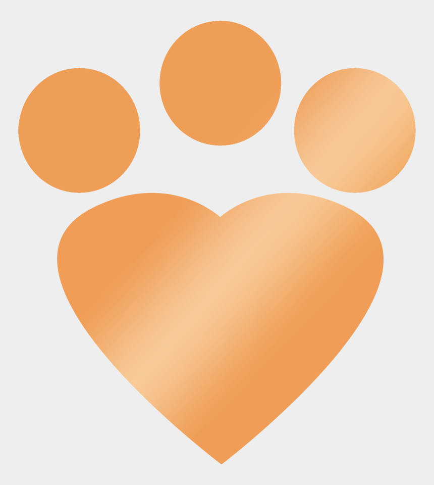 paw print heart clipart, Cartoons - Gold Heart Paw Print - Simba Paw Prints