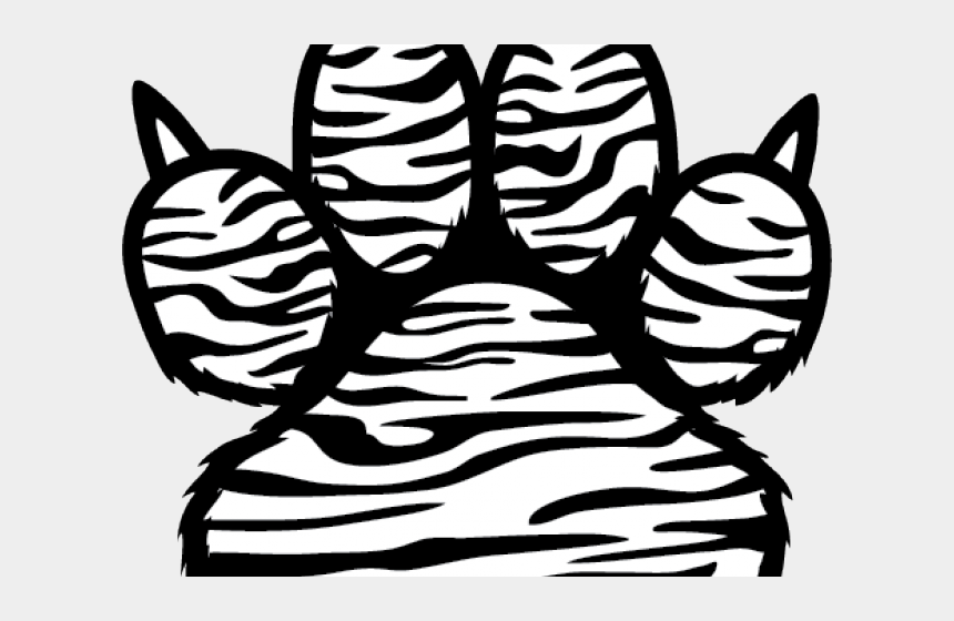 paw print heart clipart, Cartoons - Tiger Paw Png - Tiger Paw Print Drawing