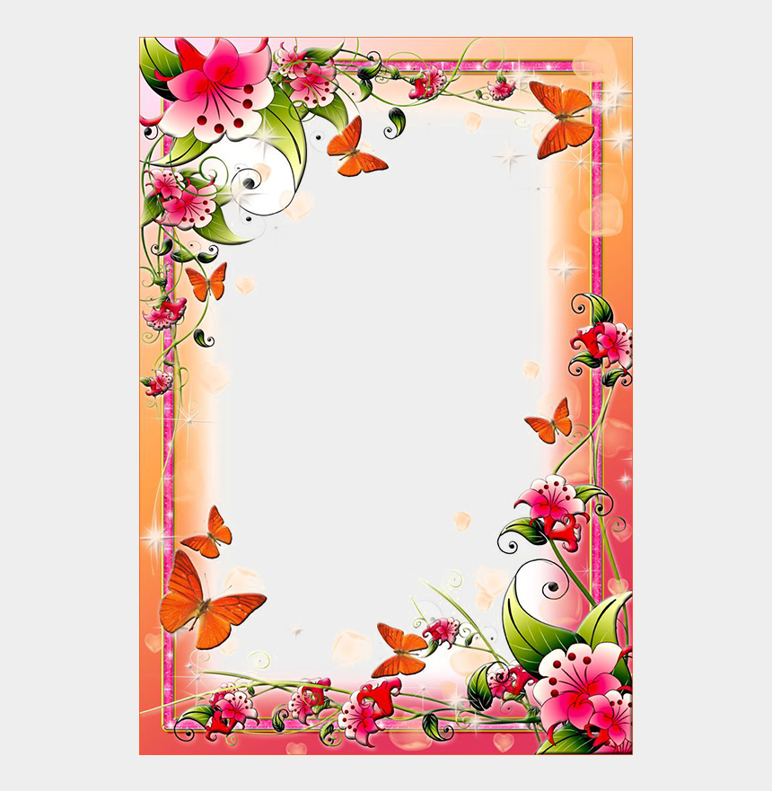 floral frame clipart, Cartoons - Flower Frame Clipart - Flowers Frames And Borders