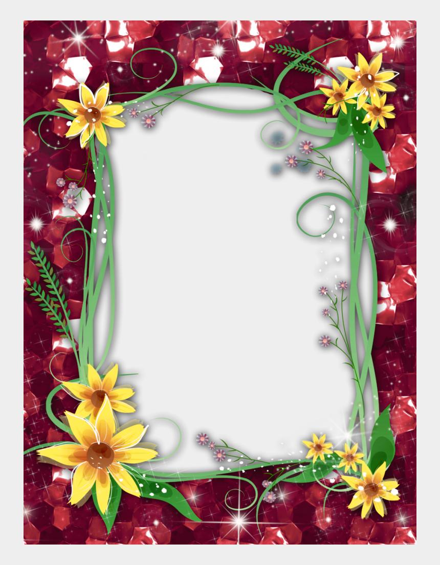 floral frame clipart, Cartoons - Red Flower Frame Png Transparent Image - Transparent Png Photo Frame