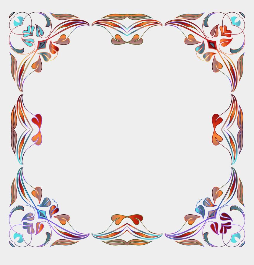 floral frame clipart, Cartoons - Gold Floral Png Border