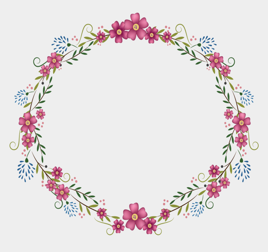floral frame clipart, Cartoons - Flowers Round Frame 2835 2835 Transp Png Free Pink - Transparent Background Floral Frame