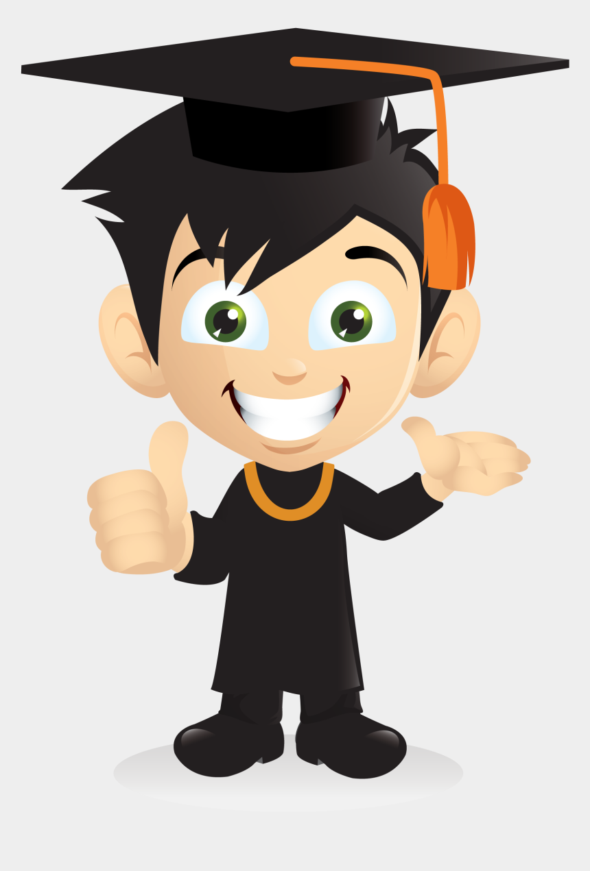college diploma clipart, Cartoons - Cartoon Smiling Graduation Boy [png] Png&svg Download, - Graduate Png