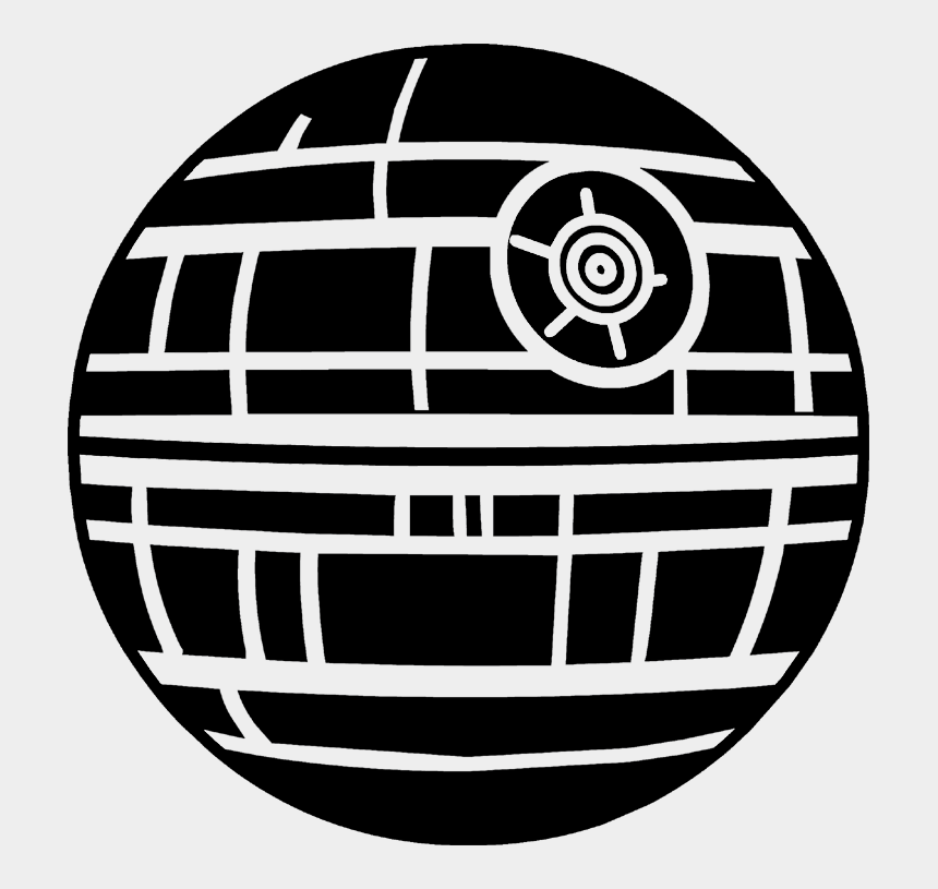 hogwarts silhouette clipart, Cartoons - Load The Death Star Image Into Cricut Design Space - Death Star Black And White