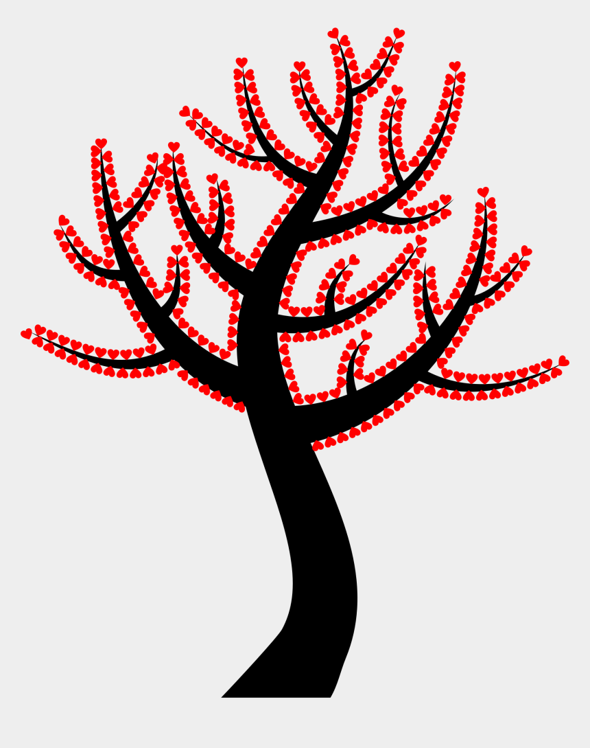 valentine hearts clipart, Cartoons - This Free Icons Png Design Of Valentine Hearts Tree - Colourful Tree Clip Art Png