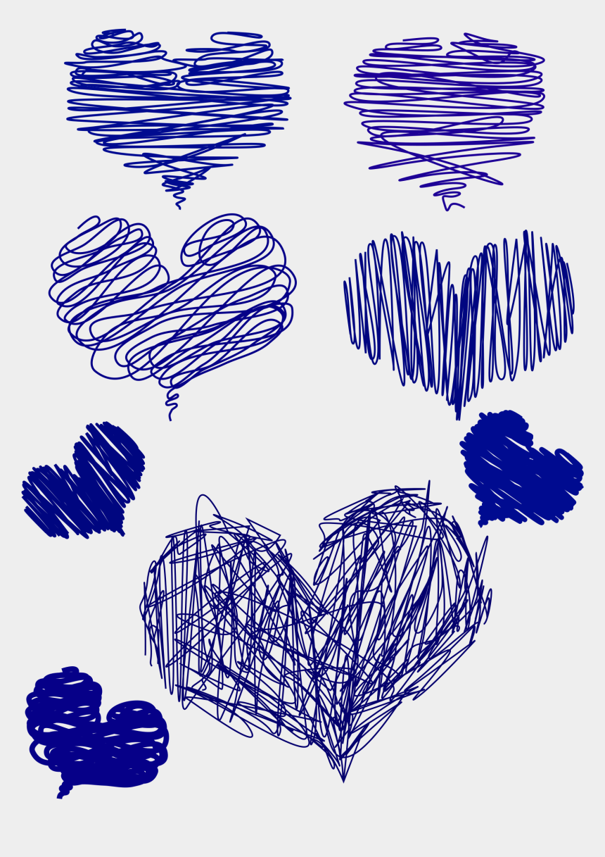 heart in hand clipart, Cartoons - Blue Drawing Heart - Blue Hand Drawn Heart