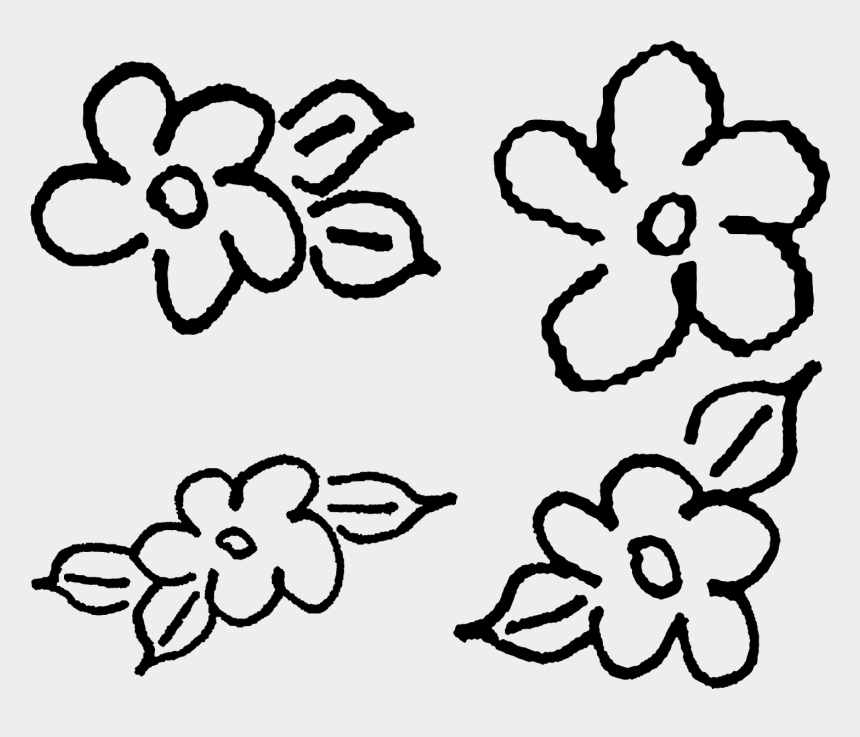 hand drawing clipart, Cartoons - Flowers Hand Drawn Floral Collage Sheet Printable Clipart - Doodle Flower Hand Drawn Png