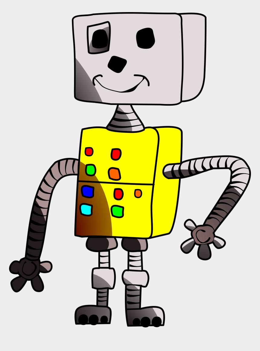 robots clipart, Cartoons - Vector Robot Computer - Clip Art