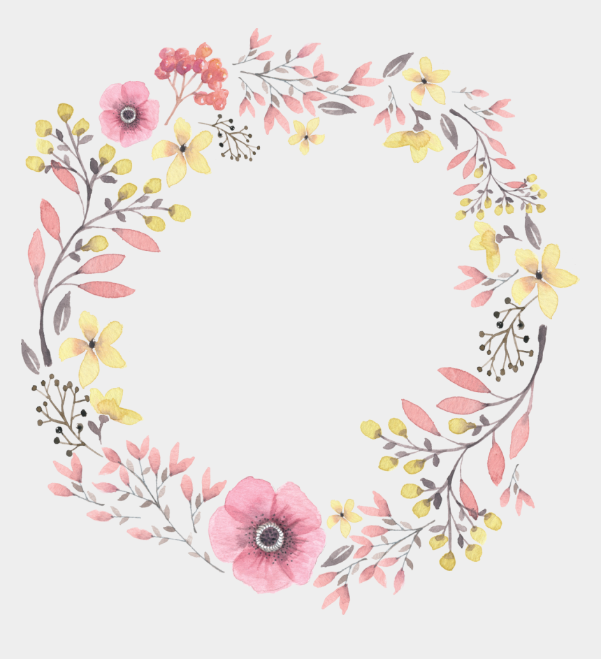 fall wreath clipart, Cartoons - Painted Wreath Hand Watercolor Wreaths Iphone Clipart - Watercolor Floral Wreath Png