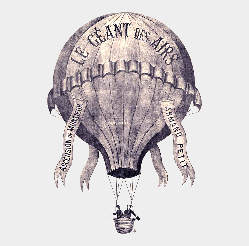 vintage hot air balloon clipart, Cartoons - Airship Drawing Hot Air Balloon - Vintage Hot Air Balloon Transparency