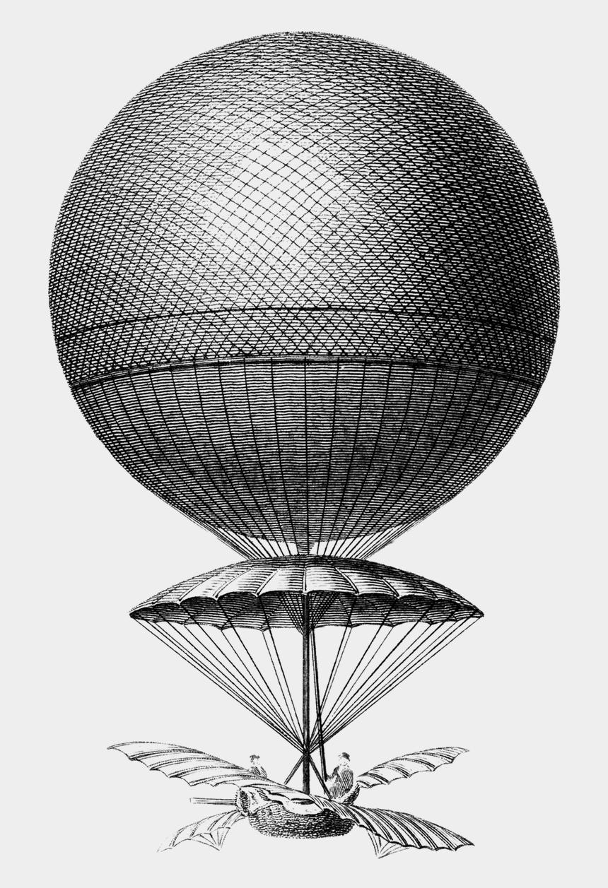 vintage hot air balloon clipart, Cartoons - Aeronautics, Hot Air Balloon, Old, Vintage, Hot, Air - Romanticism Science