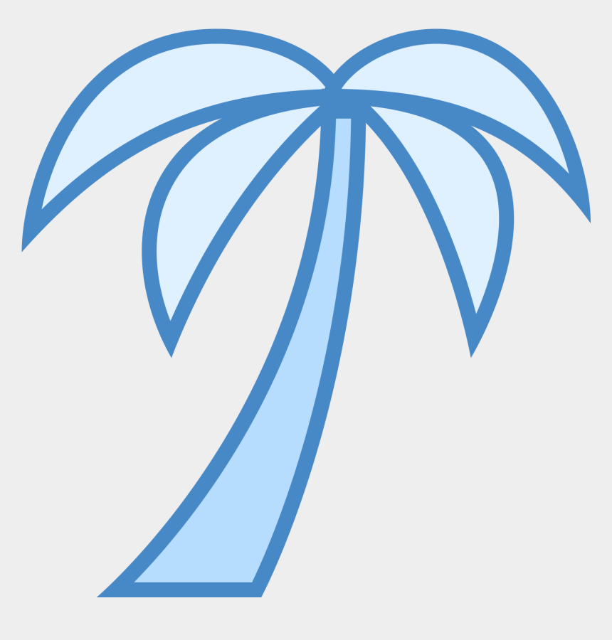 palm trees clipart free, Cartoons - Free Palm Tree Icon Png - Palm Tree Icon Blue Transparent