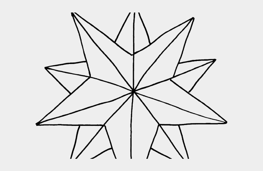 star of bethlehem clipart black and white, Cartoons - Drawn Stars Christmast - Coloring Page Of Christmas Star