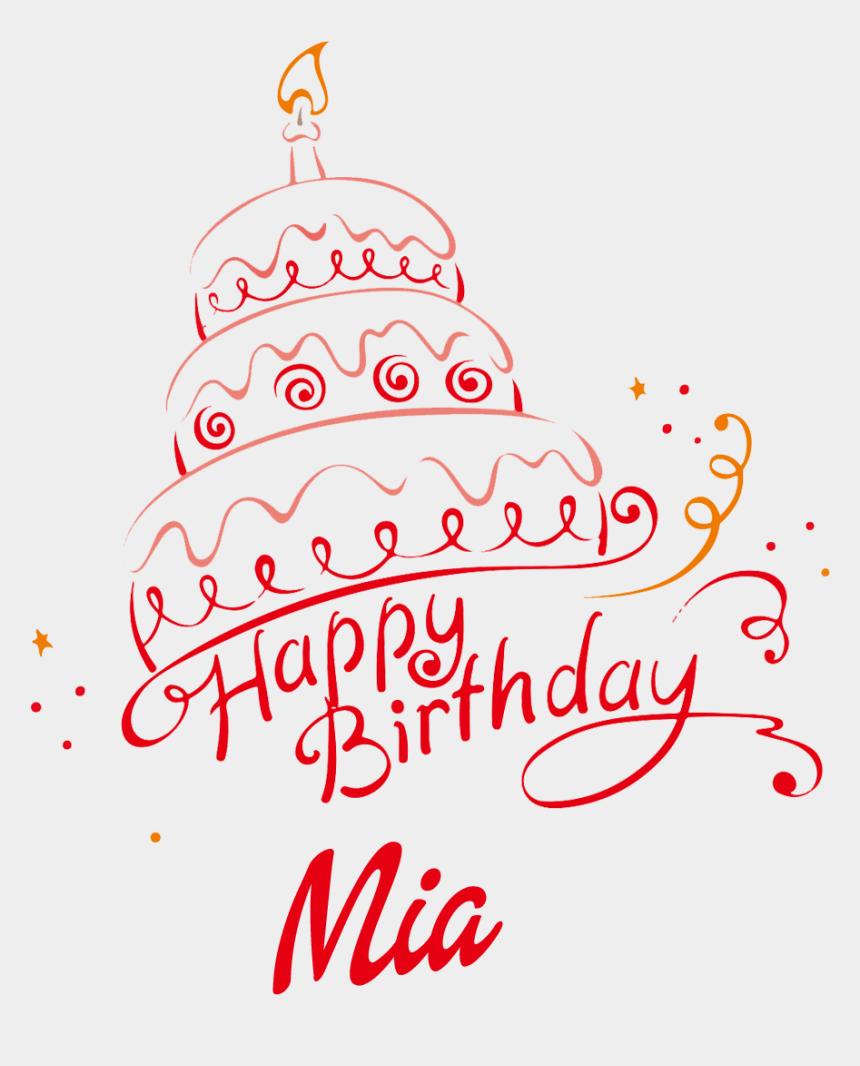 happy birthday jesus clipart, Cartoons - Mia Happy Birthday Vector Cake Name Png - Mini Name Birthday Cake