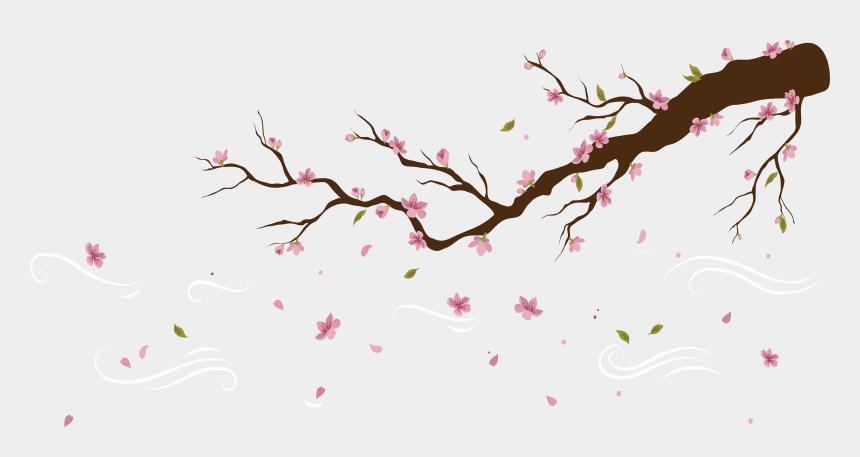 sakura flower clipart, Cartoons - Cherry Blossom Petal Png - Cherry Blossom Petals Falling Tattoo