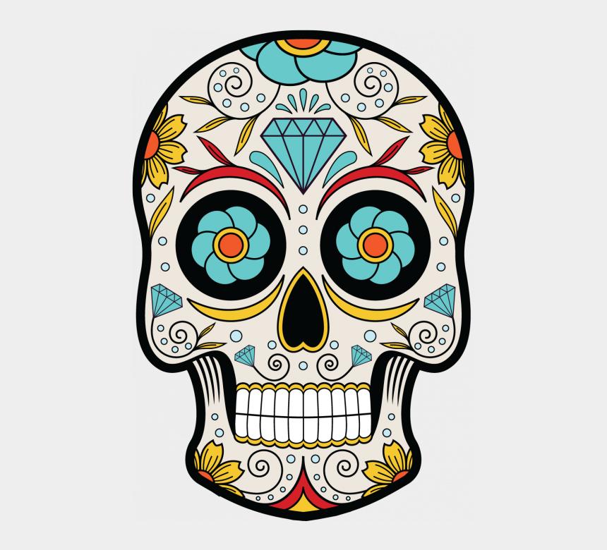 sugar skulls clipart, Cartoons - Sugar Skull Clipart Mexican Skull - Tete De Mort Dia De Los Muertos