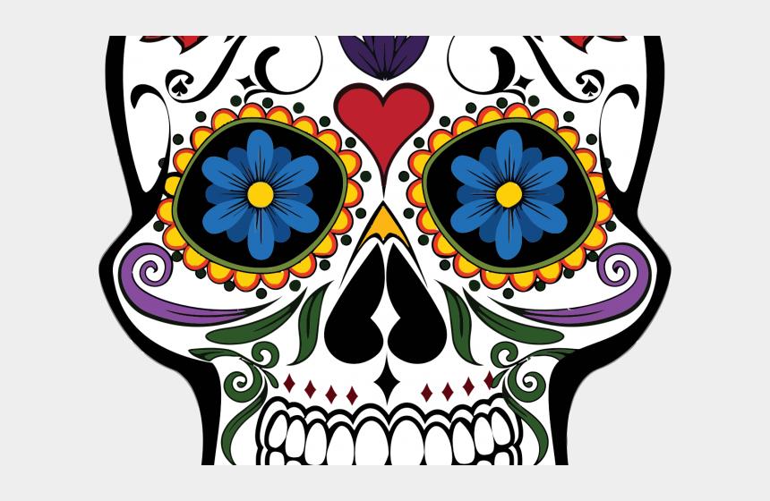 sugar skulls clipart, Cartoons - Sugar Skull Clipart Sunflower - Day Of The Dead Skull Clipart