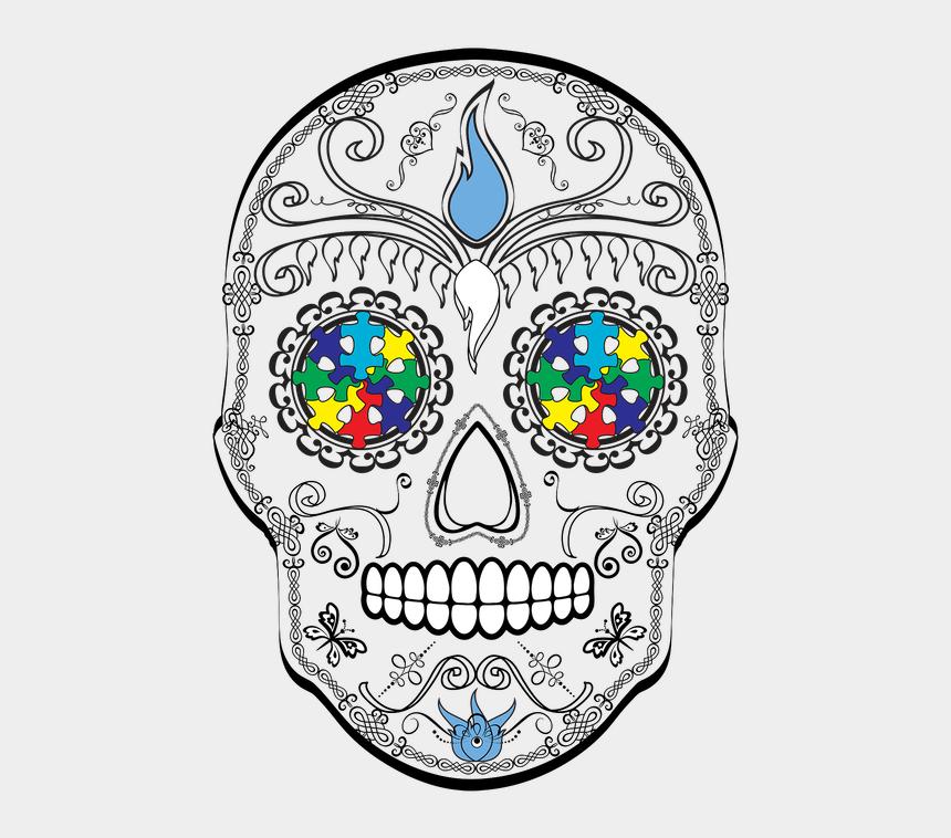 sugar skulls clipart, Cartoons - Beautiful And Soft - Sugar Skull Breast Cancer