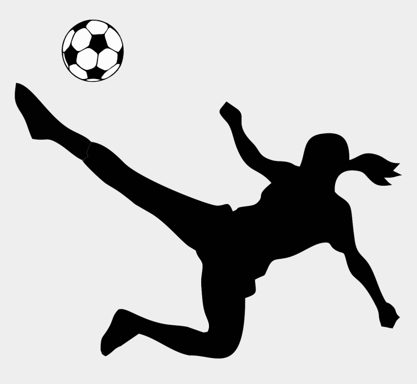 soccer players clipart, Cartoons - Footballer Clipart School Football - Girl Kicking Soccer Ball Clip Art
