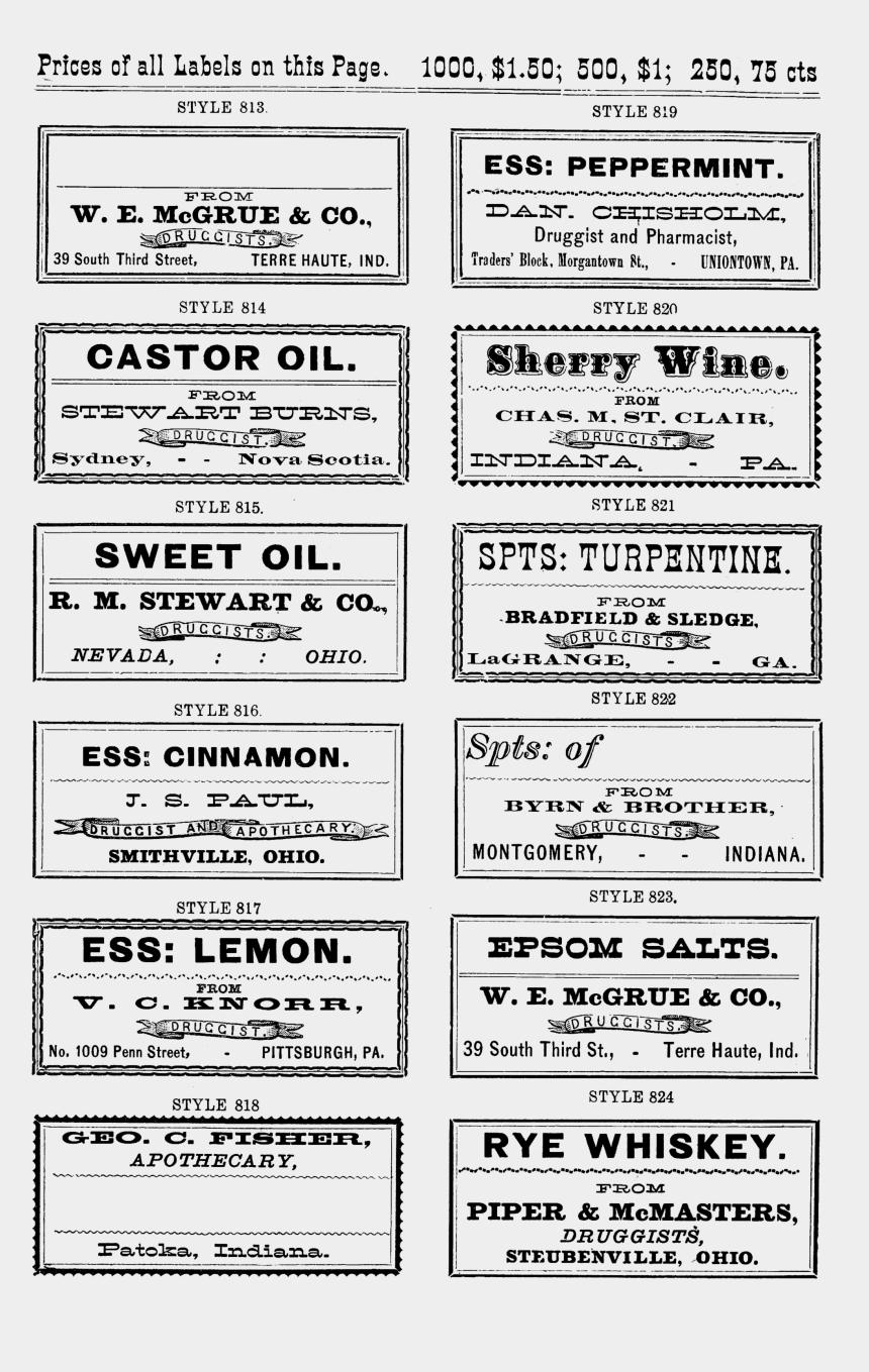 labels clipart, Cartoons - Vintage Labels No Oh - Vintage Apothecary Labels Template