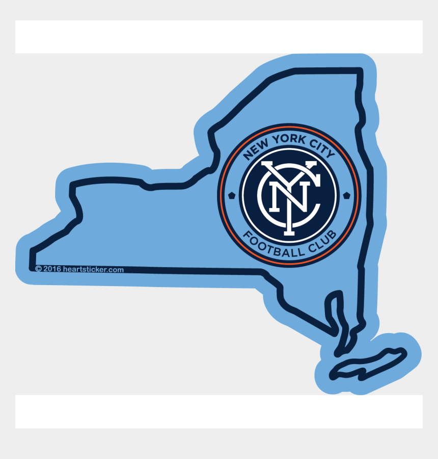new york city clipart, Cartoons - Mls New York City Fc Sticker,all-weather Premium Vinyl - Nycfc Chicago Fire