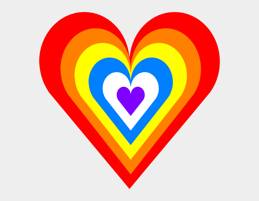 clipart rainbows, Cartoons - Rainbow Heart No Background