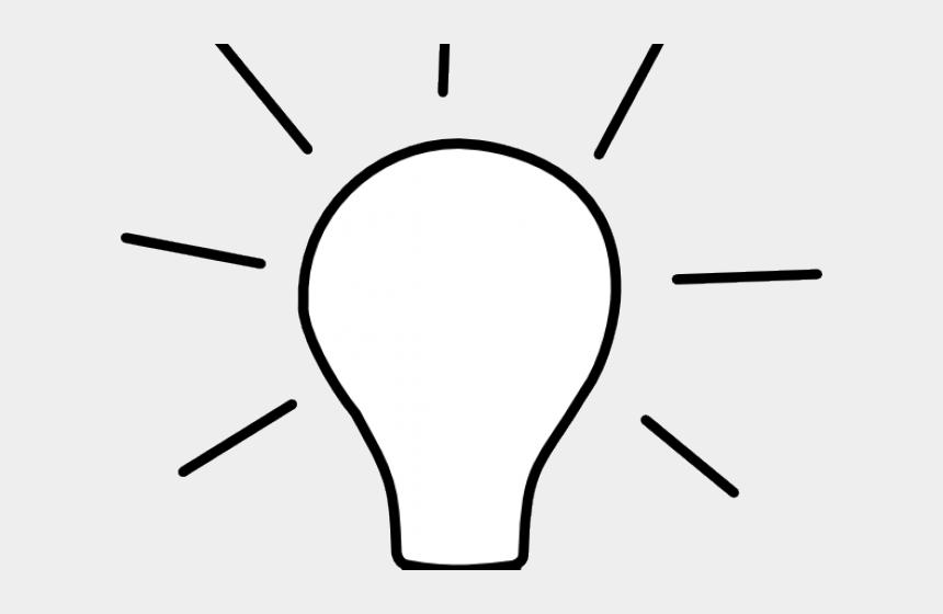 light clipart black and white, Cartoons - Light Bulb Clipart Black And White - Light