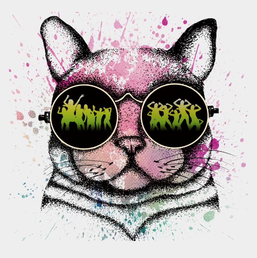 black cat face clipart, Cartoons - Head Computer Black File Cat Hd Image Free Png - Gato De Oculos