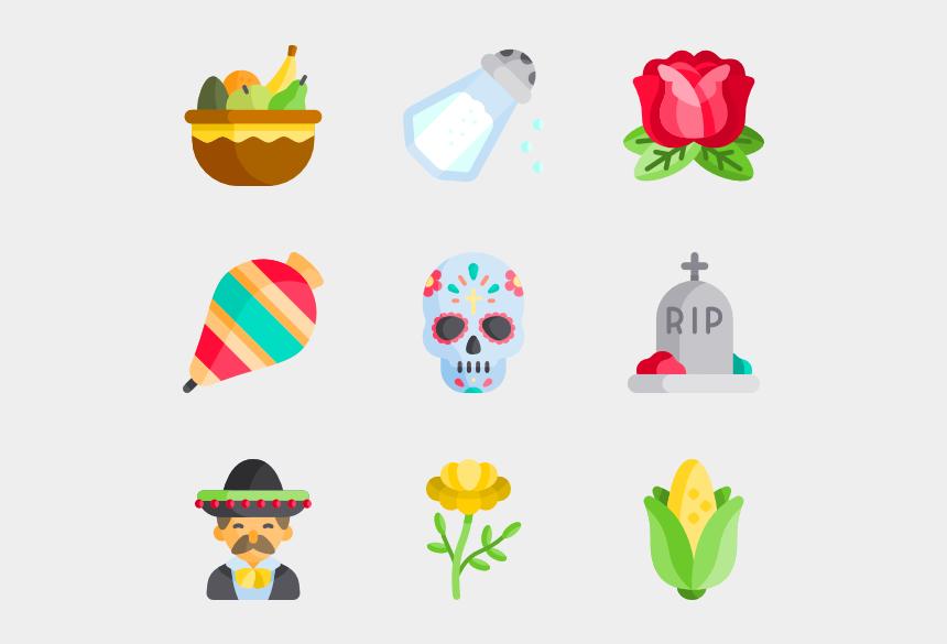 pan de muerto clipart, Cartoons - Día De Muertos - Dia De Muertos Icono