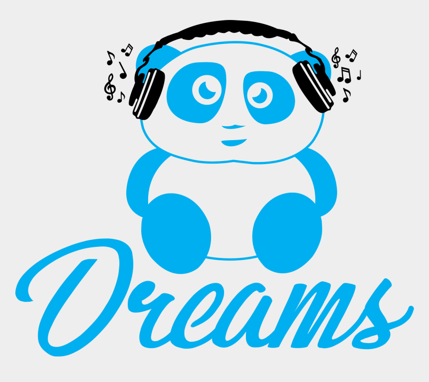 listening to headphones clipart, Cartoons - Dreams Music Launches Merchandise With Cute Panda Ⓒ - Panda Listening To Music Png