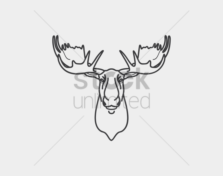 elk clipart black and white, Cartoons - Moose Vector Image - Drawing Of A Moose Head
