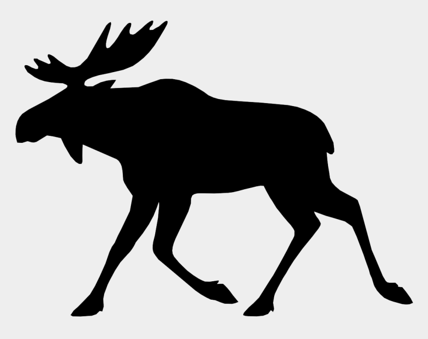 elk clipart black and white, Cartoons - Moose - Moose Icon