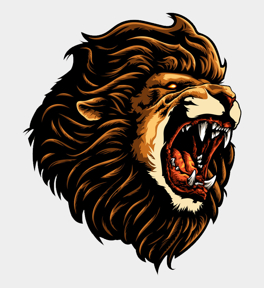 fierce lion clipart, Cartoons - Roar Clipart Transparent - Fierce Lion Face Clipart