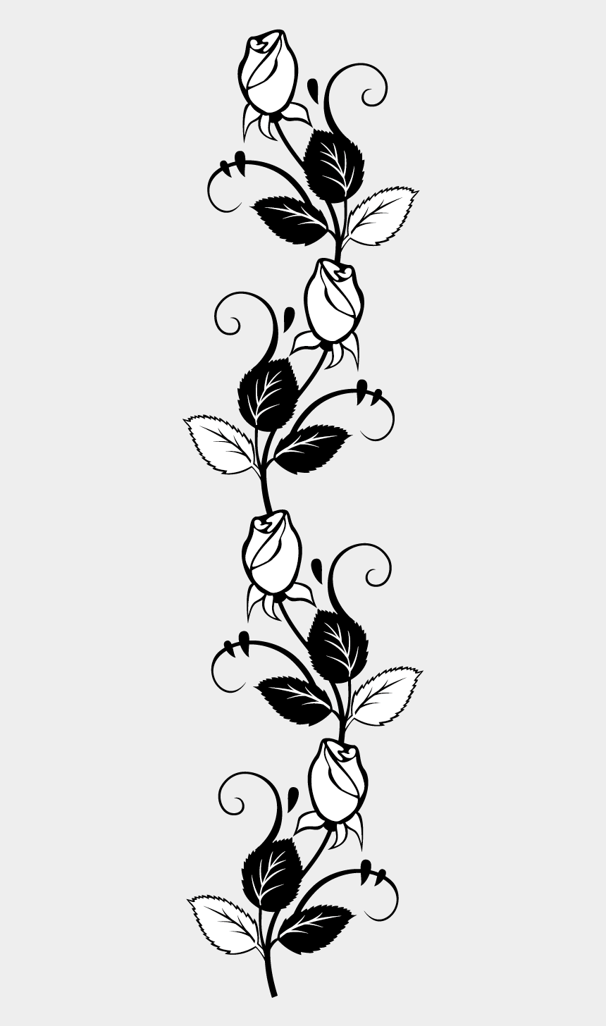 pumpkin clipart black and white vines, Cartoons - Rose Stencil Silhouette Drawing Free Transparent Image - Flower Clip Art Rose Black And White