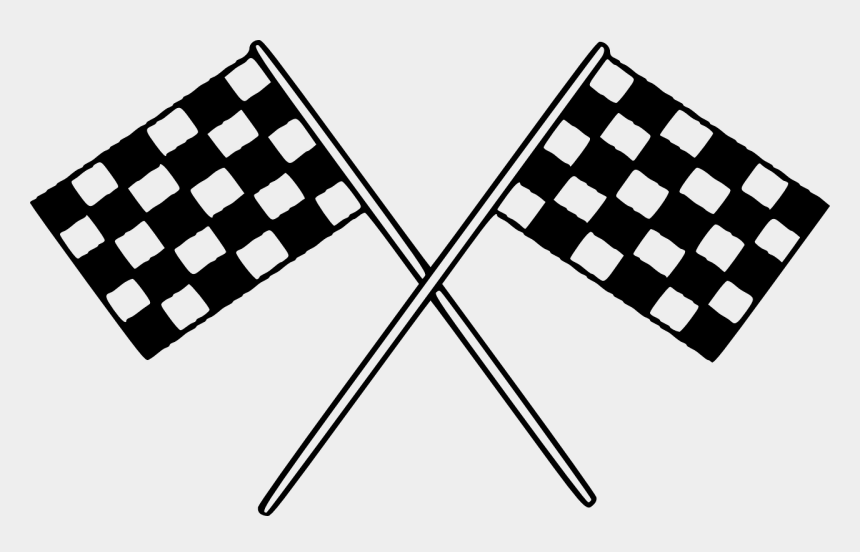 flag banner clipart black and white, Cartoons - Black And White Race Car Clipart
