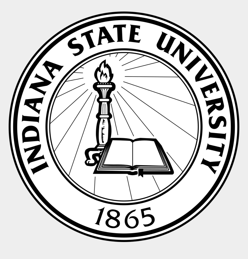 seal clipart black and white, Cartoons - 19 Indiana Jpg Black And White Library State Individual - Indiana State University Seal