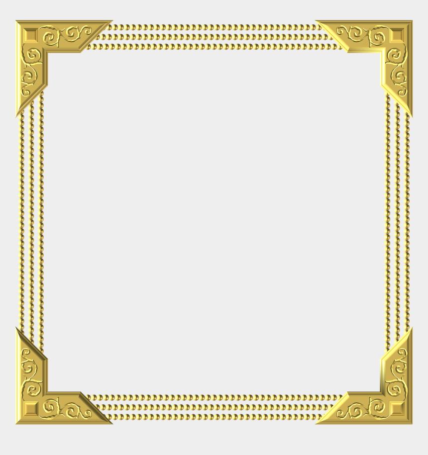 pho clipart, Cartoons - Frame Border Square Gold Golden Glitter Photography - Square Border Transparent Background