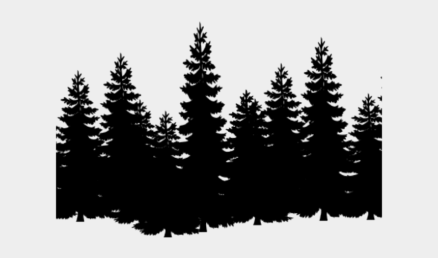 forest clipart backgrounds, Cartoons - Forest Clipart Transparent Background - Pine Trees Black And White