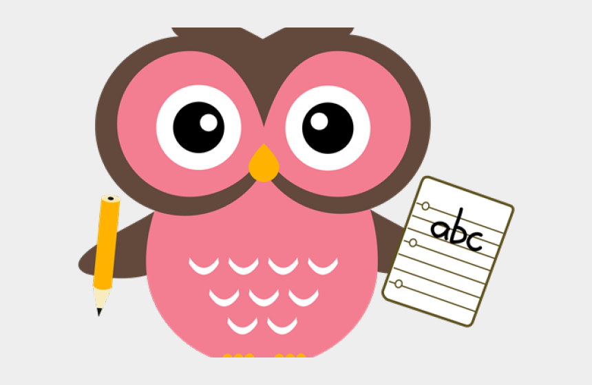 owl with pencil clipart, Cartoons - Owl With Pencil Png - Cute Teacher Owl Clipart