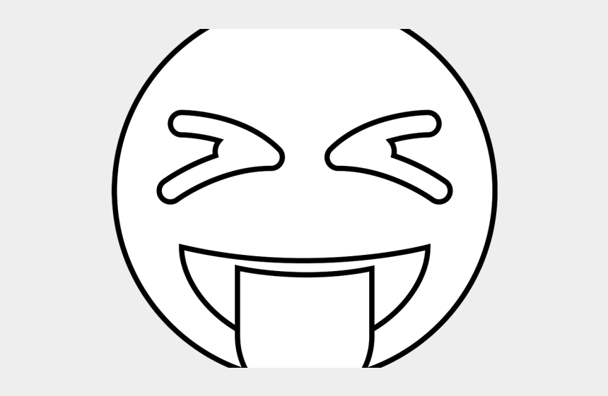 mouth and tongue clipart black and white, Cartoons - Drawn Tongue Png Transparent - Silly Face Emoji Black And White