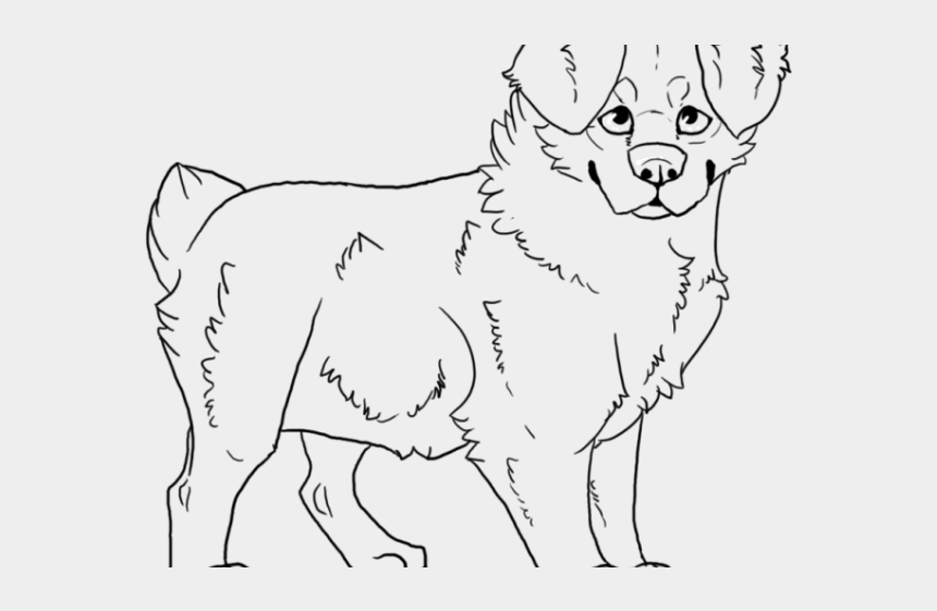 hot dog clipart black and white, Cartoons - Australian Cattle Dog Clipart Coloring - Coloring Book