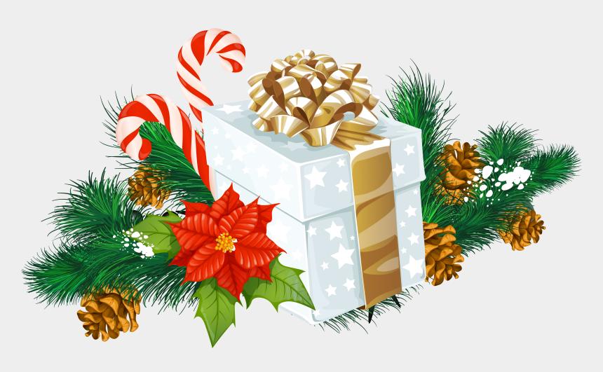 christmas present border clipart, Cartoons - Transparent Christmas White Gift Decor Png Clipart - Transparent Christmas Png Clipart