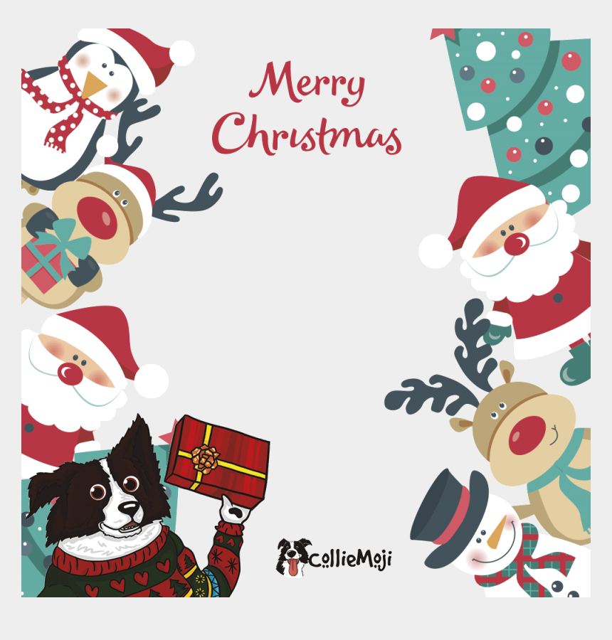 christmas present border clipart, Cartoons - Merry Christmas Present Side - Cherry Tree