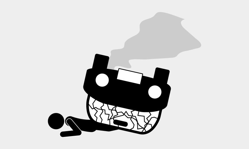 destruction clipart, Cartoons - School And Study - Pictogram Accident