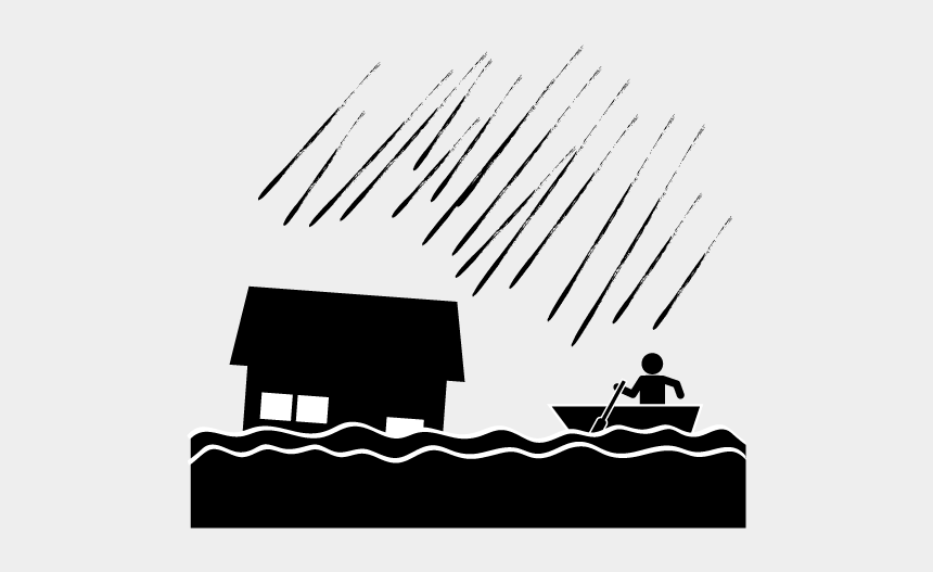 School And Study - Flood Pictogram, Cliparts & Cartoons