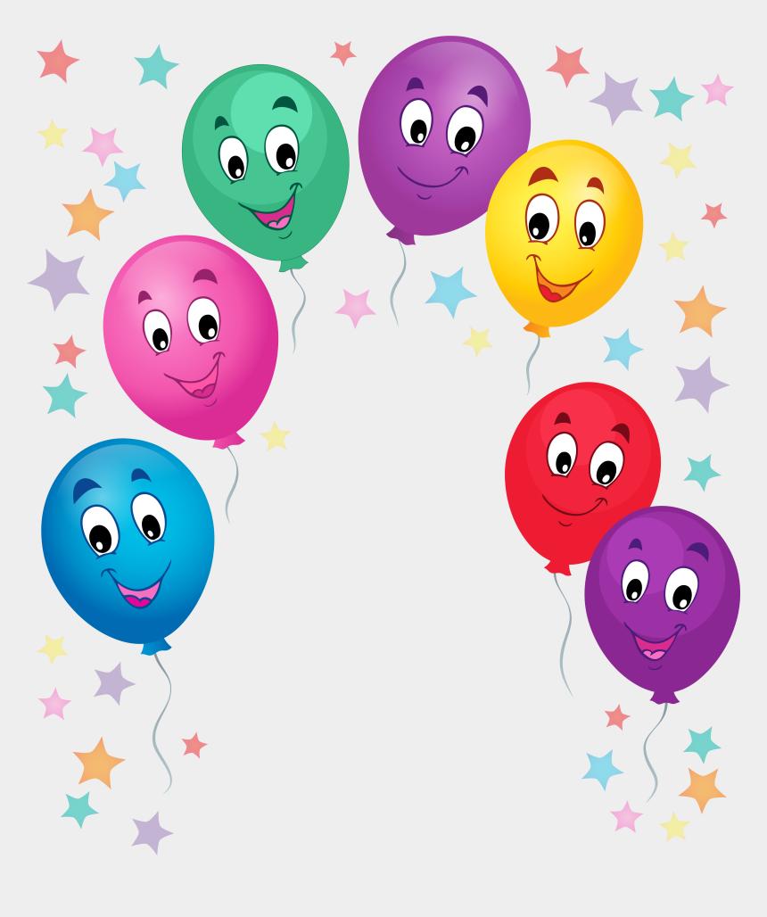 balloons clipart border, Cartoons - Cartoon Balloon Border - Cartoon Decoration