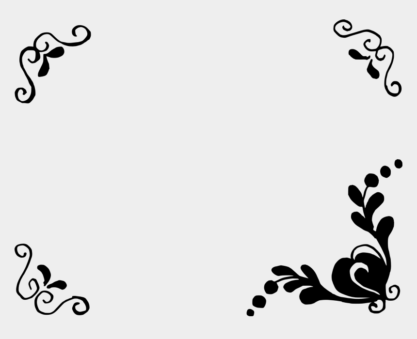 floral clipart black and white, Cartoons - Simple Flower Frame - Simple Floral Frames Png